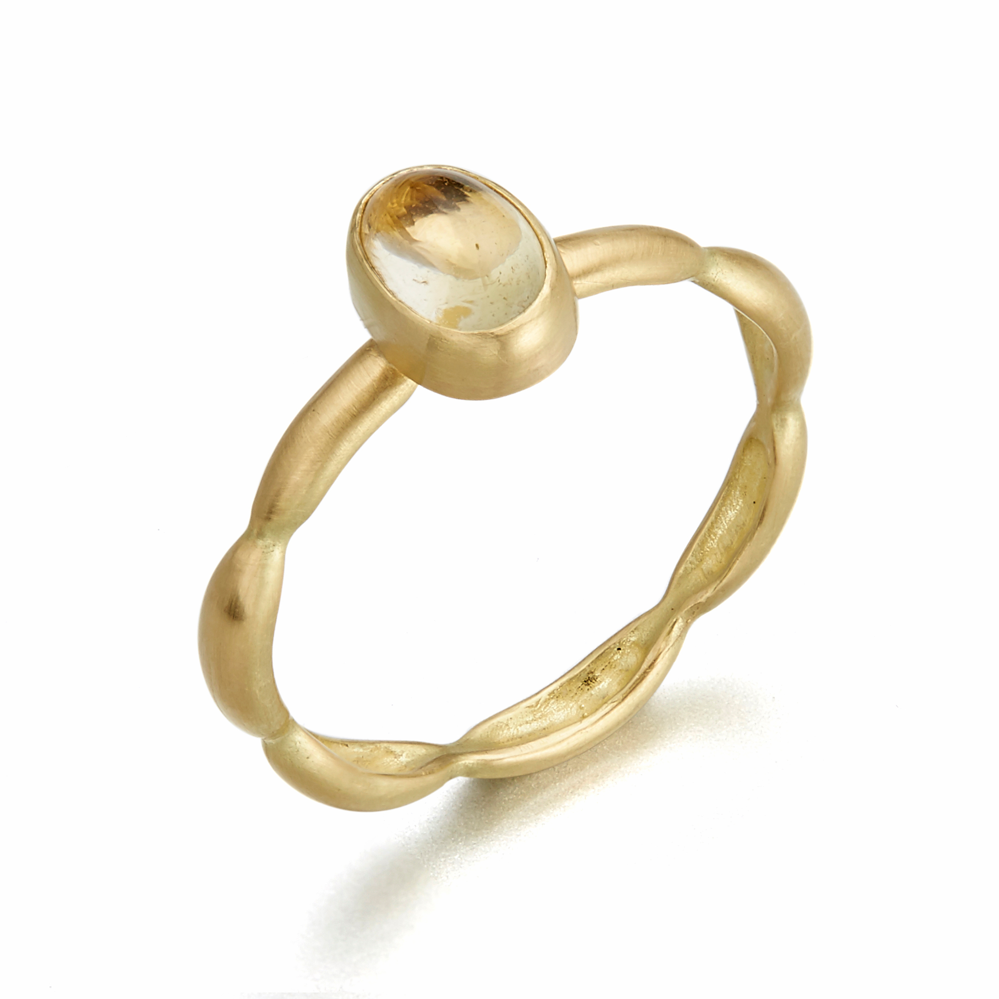 Monica Marcella Oval Yellow Sapphire Onidita Ring