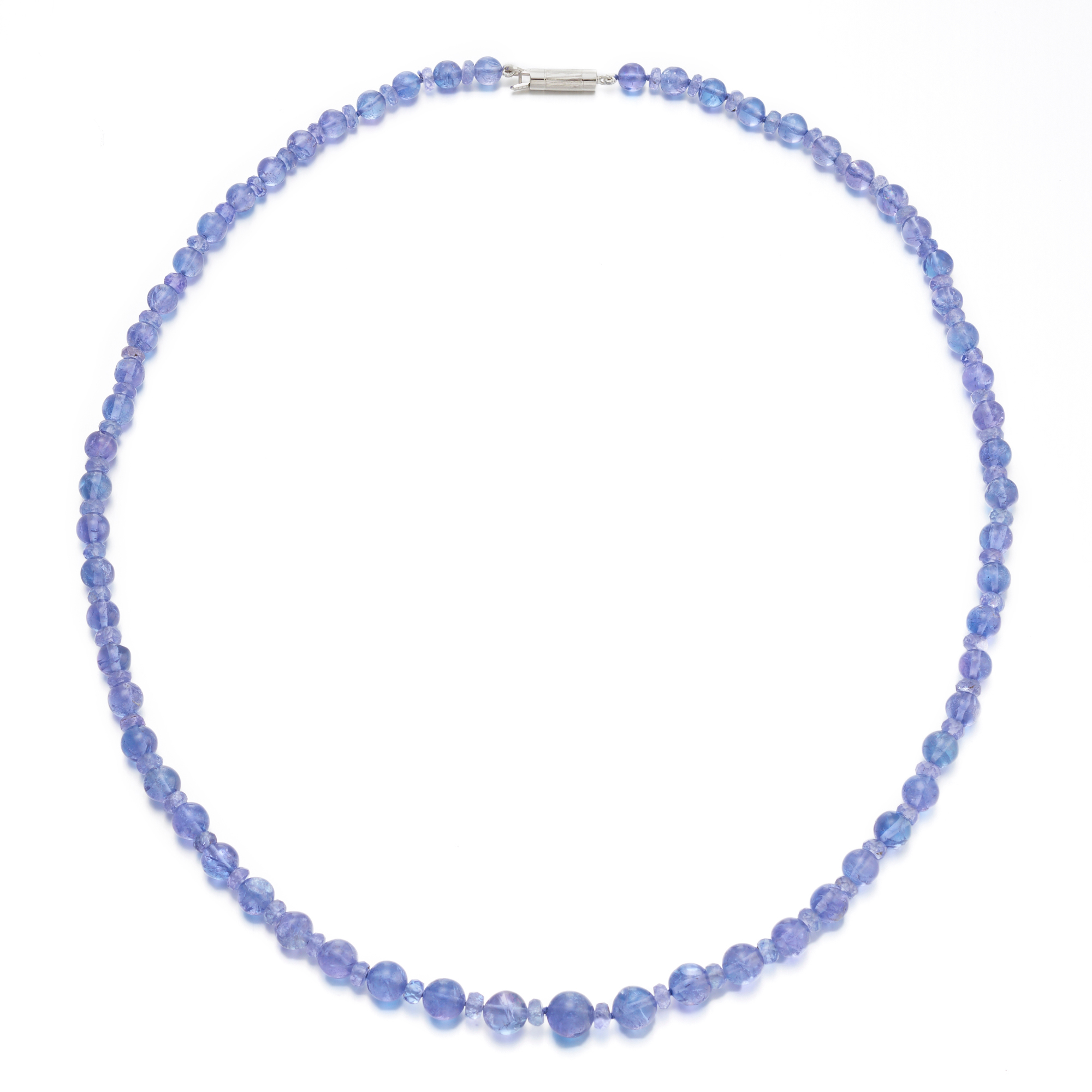 Gump's Graduated Smooth & Faceted Tanzanite Necklace