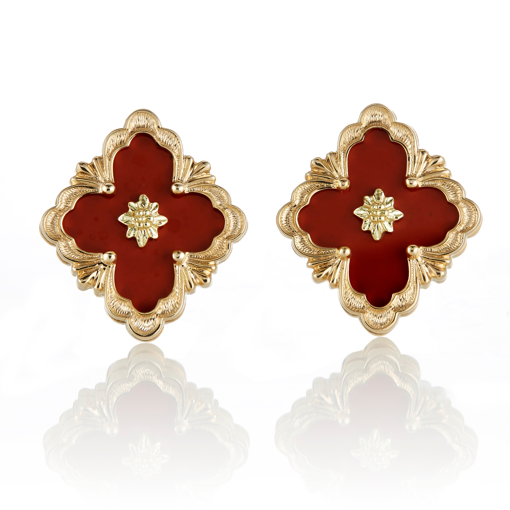 Buccellati Opera Jasper Button Earrings