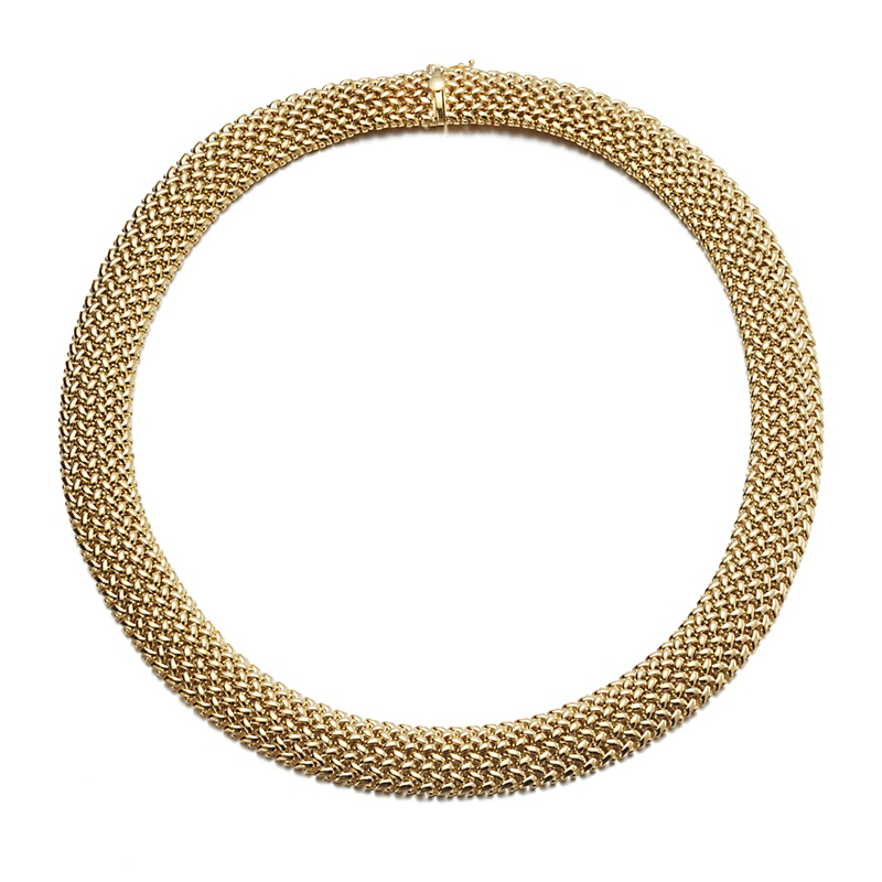 Woven Gold Mesh Necklace