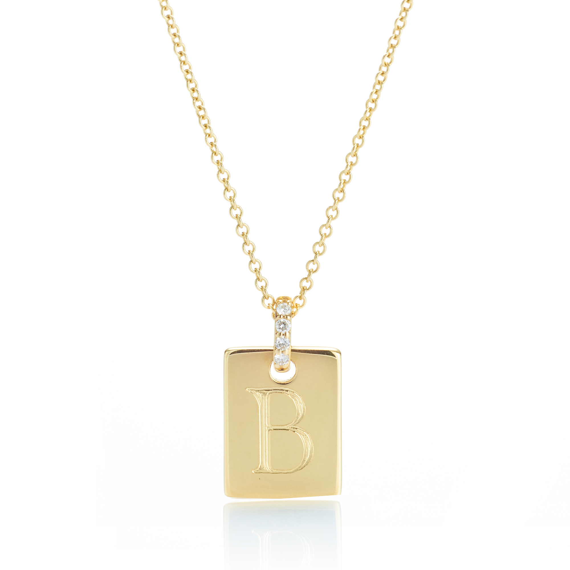 Gump's Petite Gold Rectangle Tag Pendant Necklace