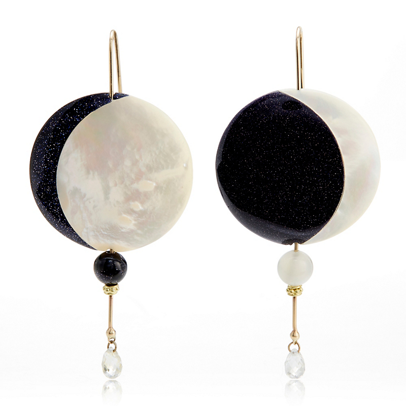 Gabriella Kiss Crescent Moon Earrings