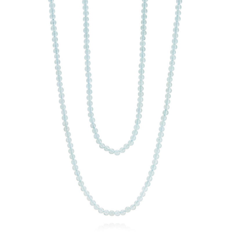 Gump's Long Aquamarine Rope