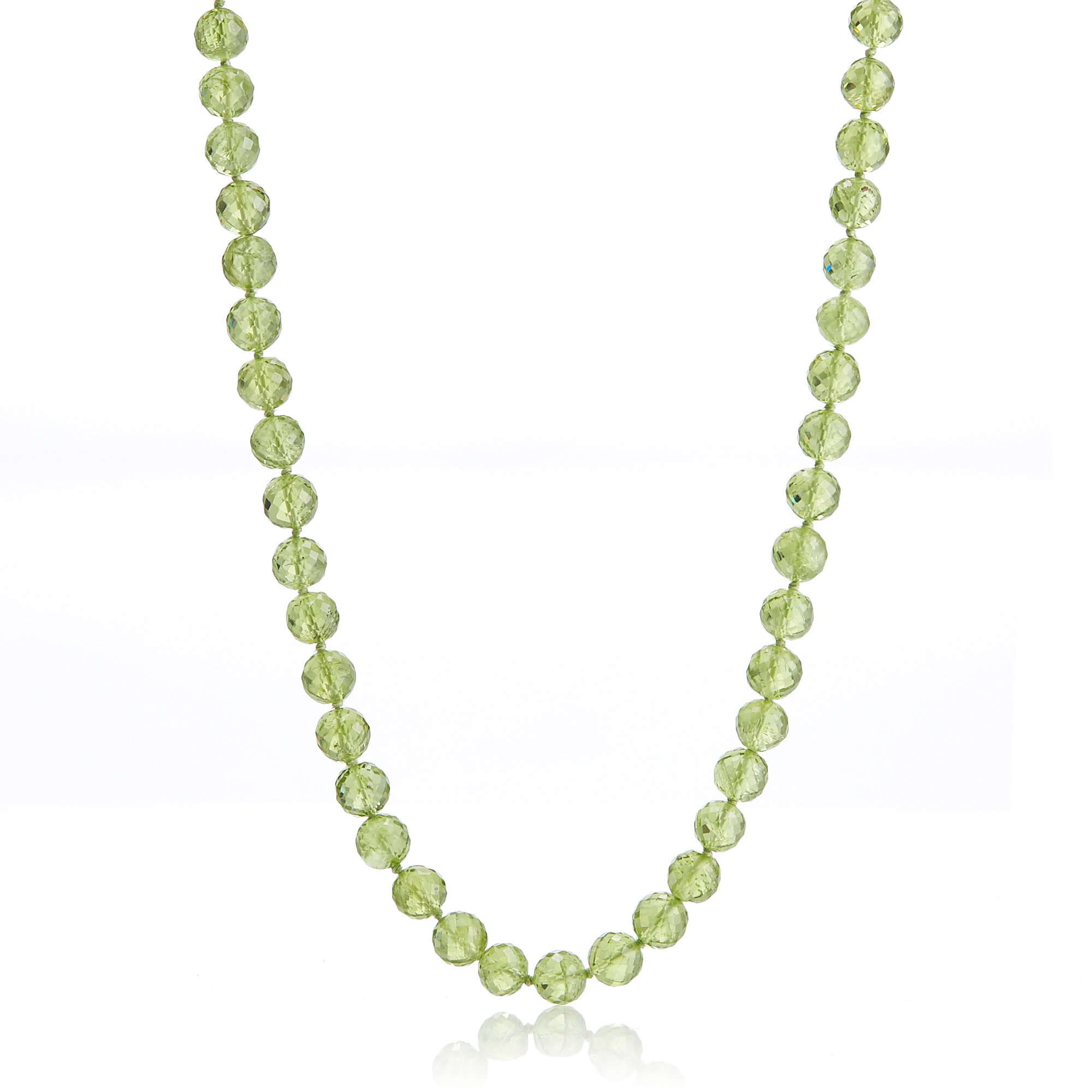 Gump's Faceted Peridot Necklace