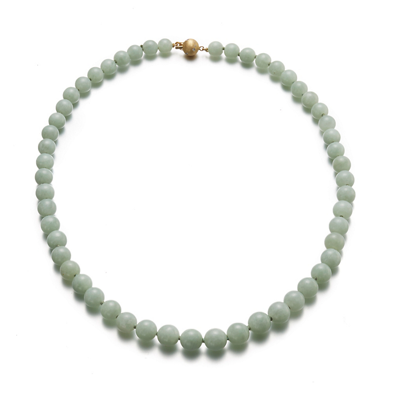 Gump's Graduated Celadon Jadeite Necklace