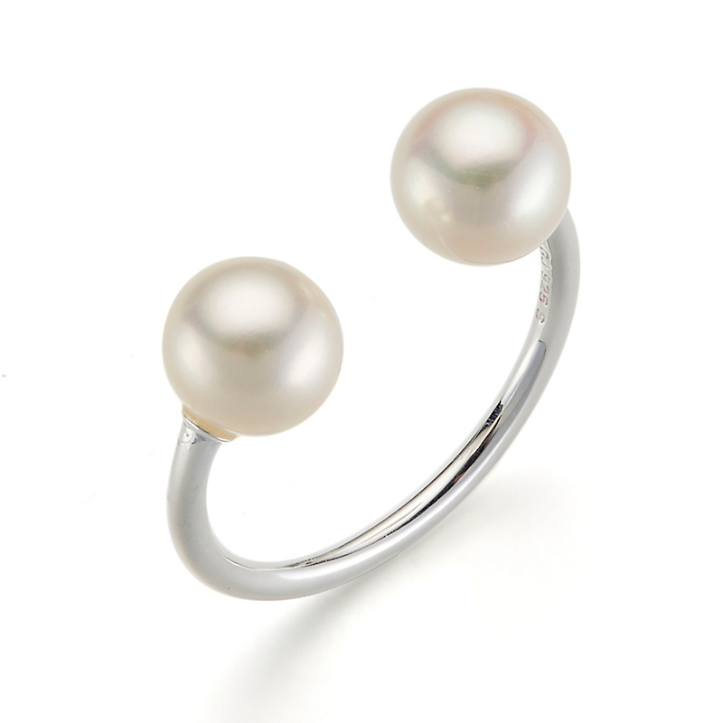 Georg Jensen Sterling Silver & White Pearl Moonlight Grapes Ring