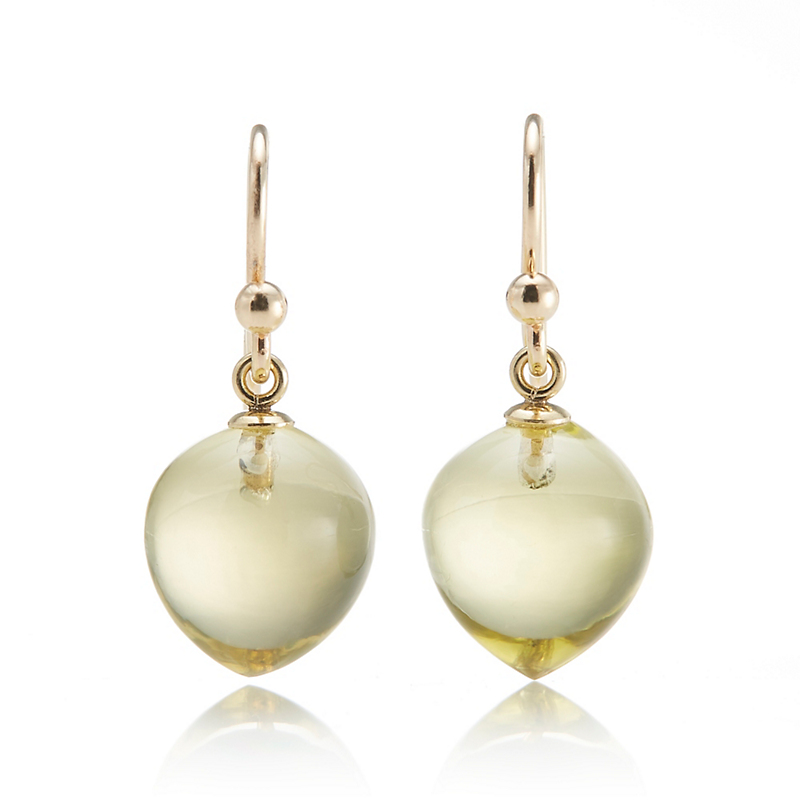 Gump's Lemon Quartz Drop Earrings