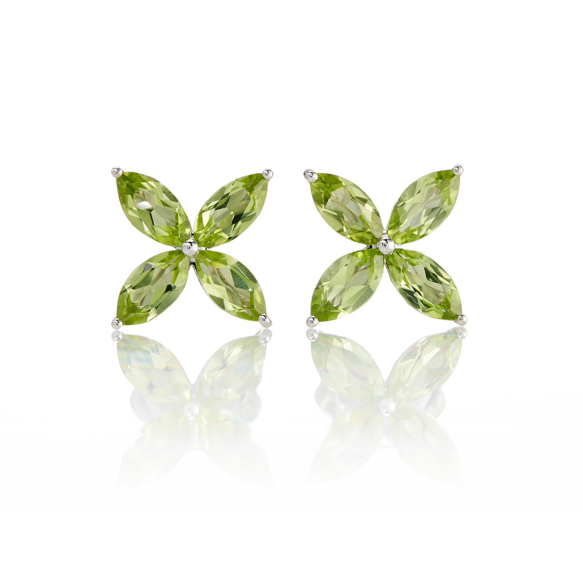 Gump's  Peridot Pinwheel Stud Earrings