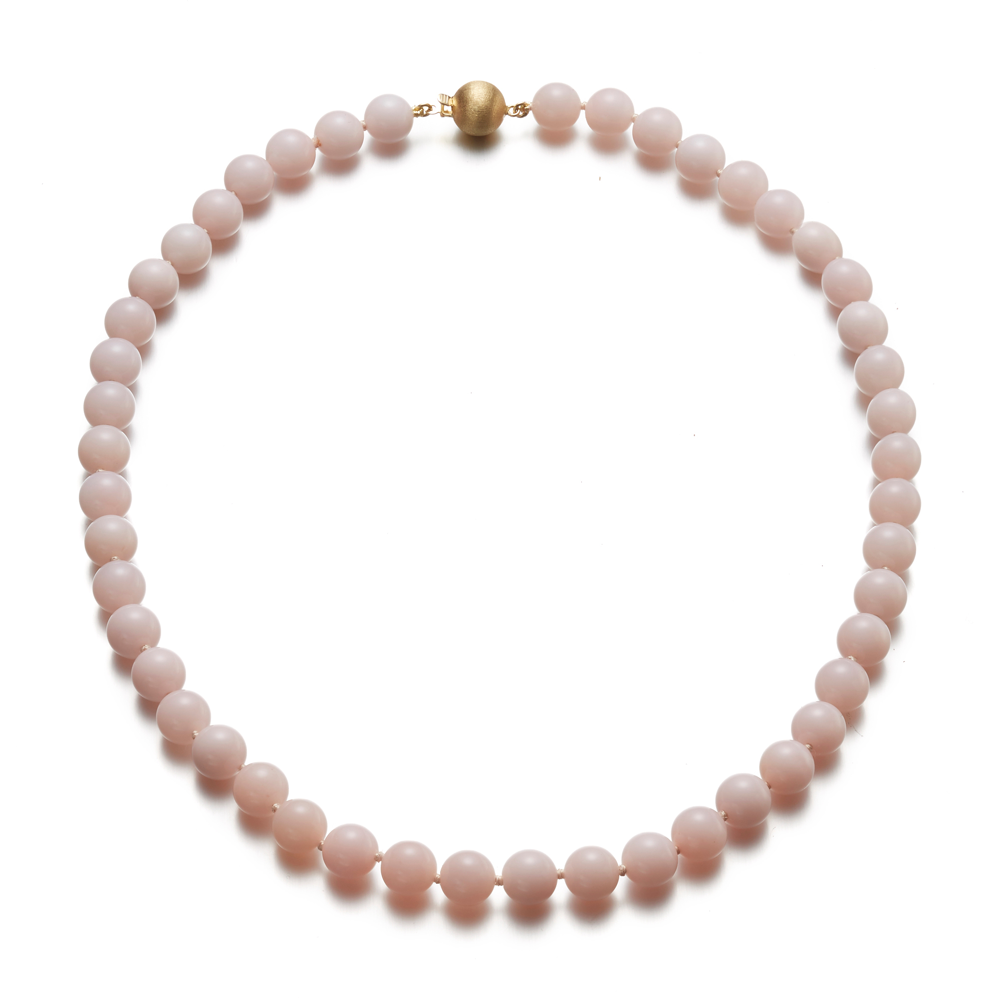 Gump's Pink Opal Necklace