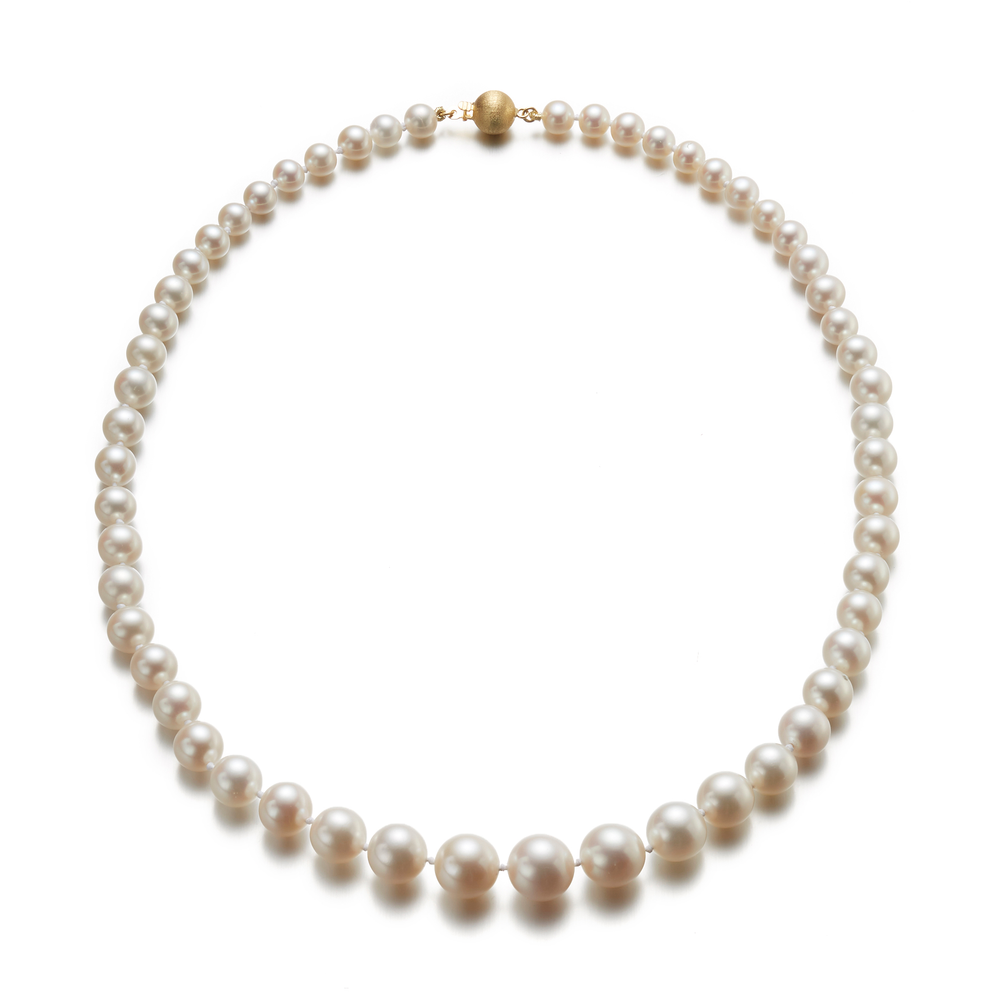 Gump's Graduated White Freshwater Pearl Necklace