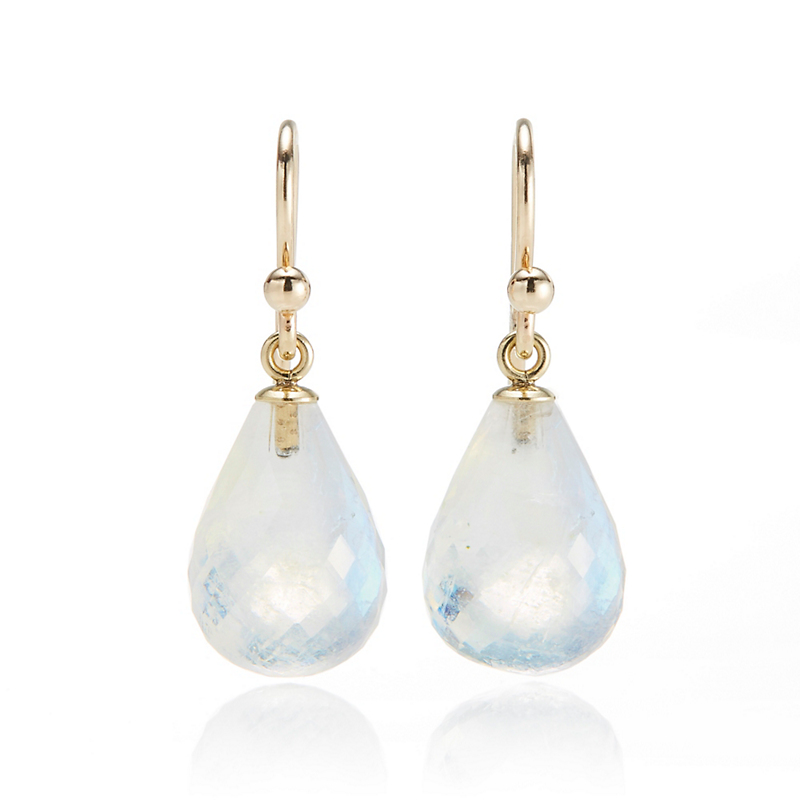 Gump's Faceted Moonstone Drop Earrings