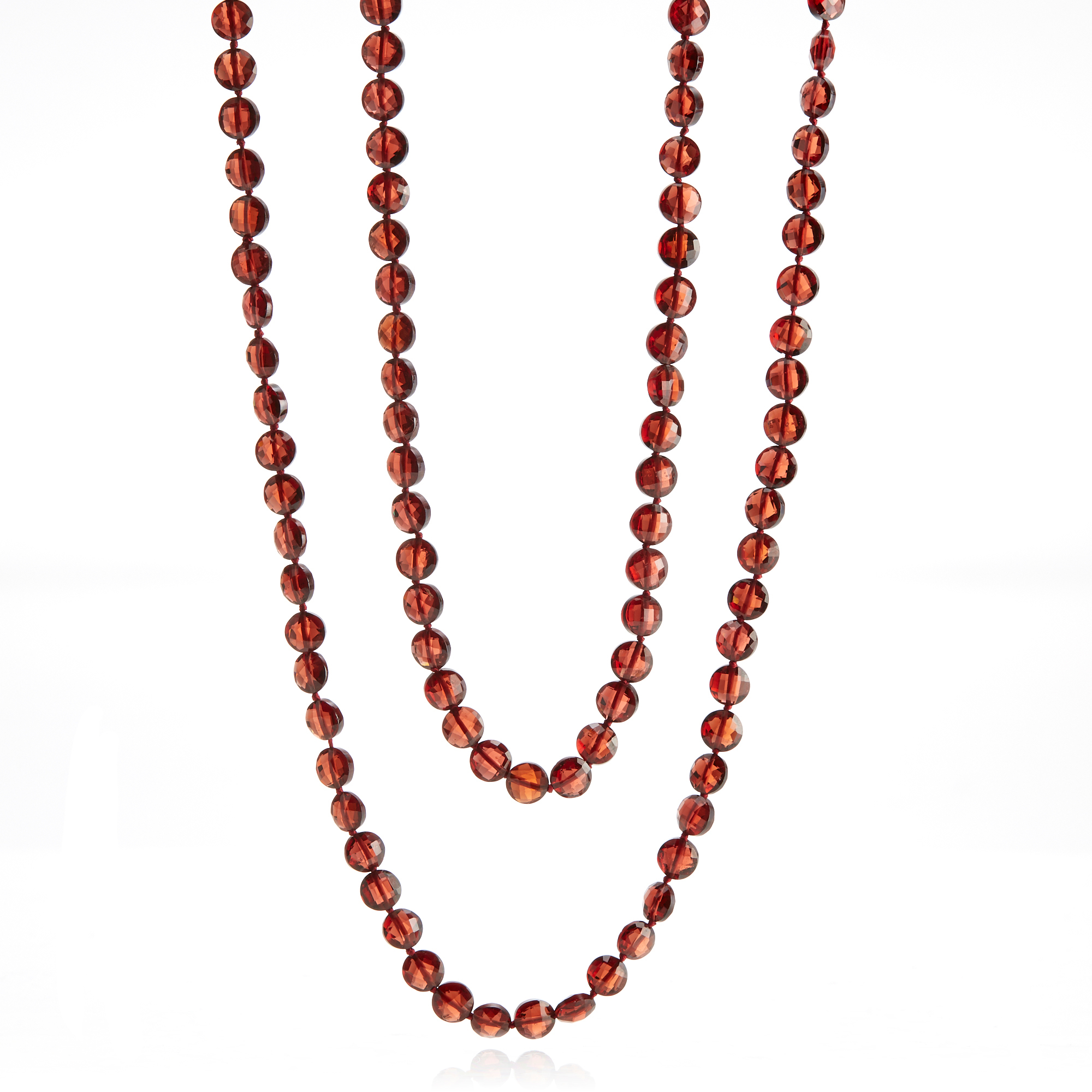 Gump's Faceted Garnet Coin Rope