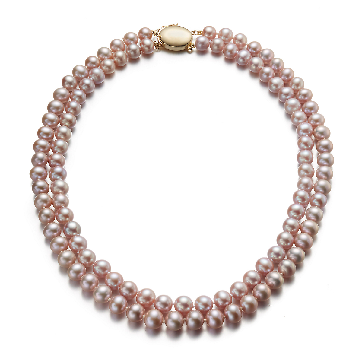 Gump's Pink Freshwater Pearl Two-Strand Necklace