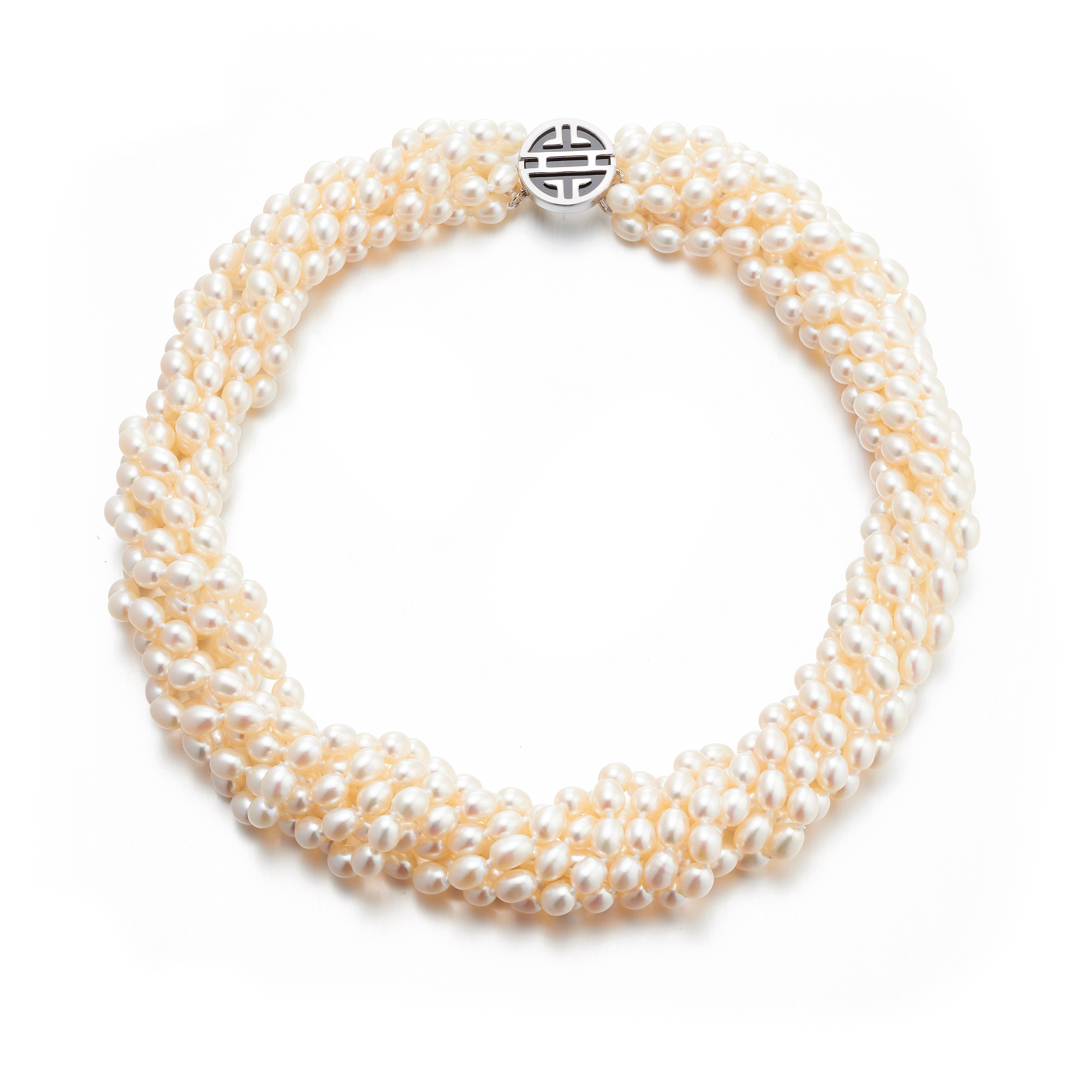 Gump's Seven-Strand Pearl Shou Twist Necklace