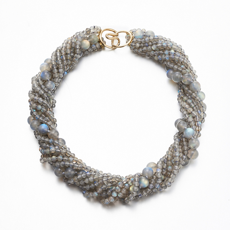 Gump's Labradorite Multi-Strand Twist Necklace