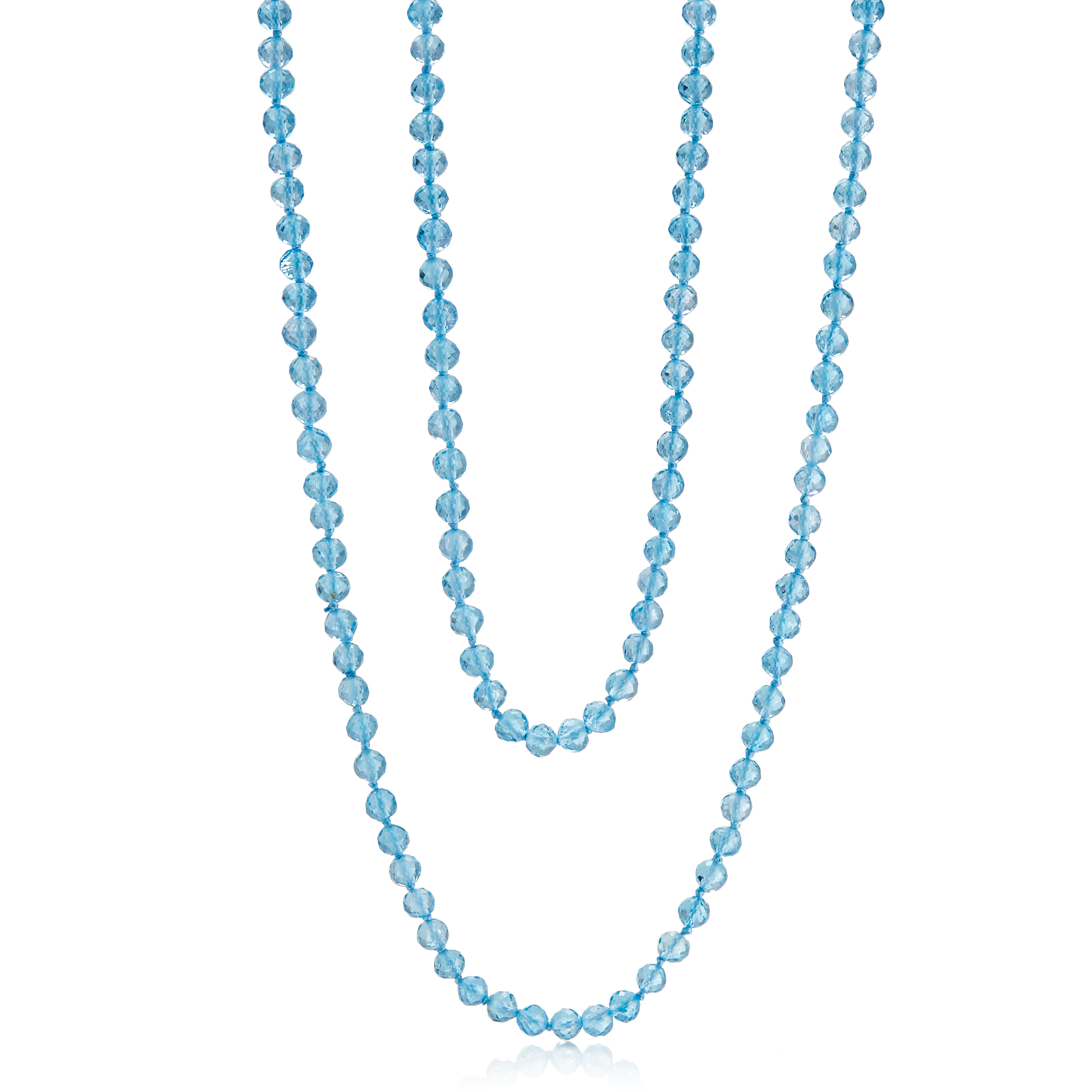Gump's Faceted Swiss Blue Topaz Rope