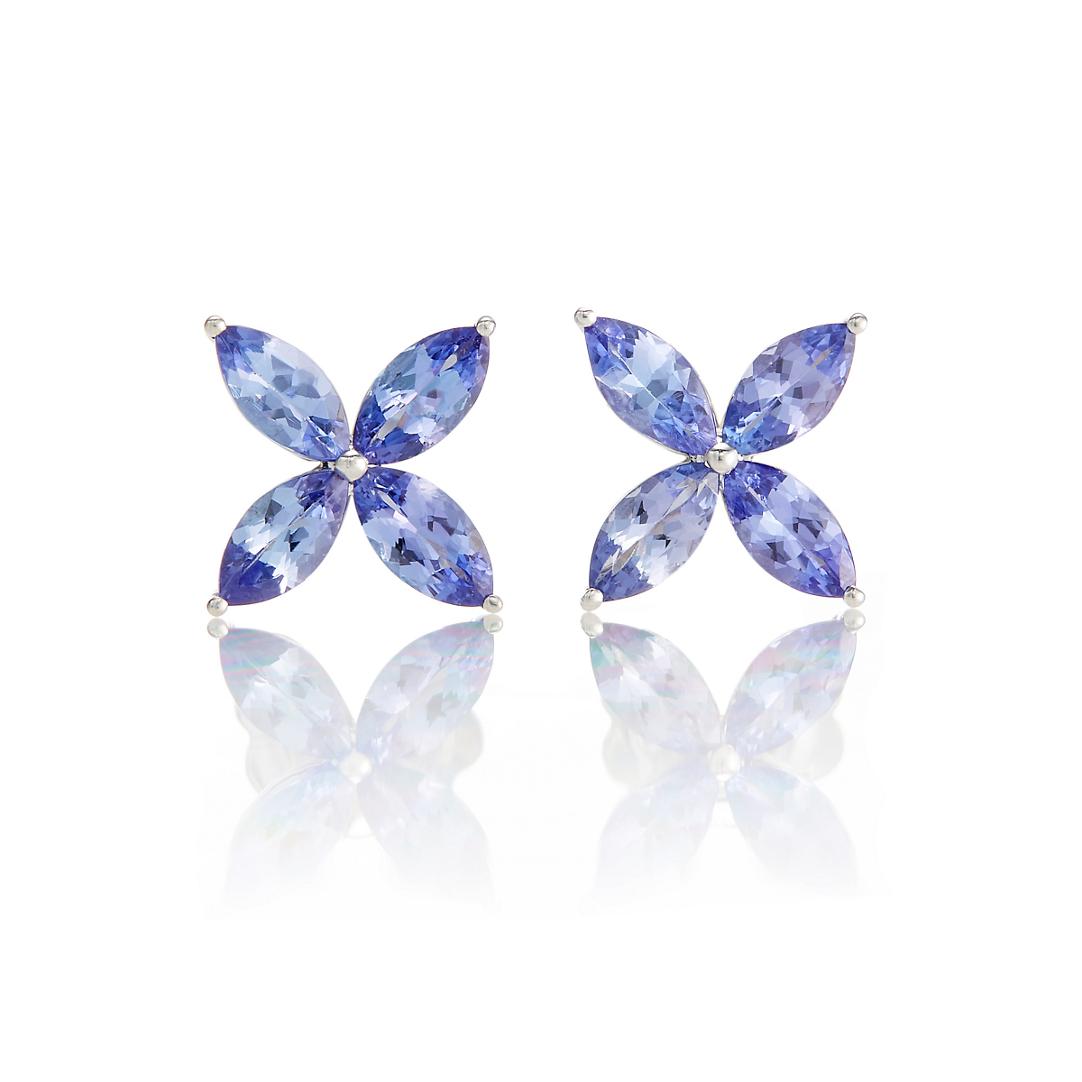 Gump's Tanzanite Pinwheel Stud Earrings