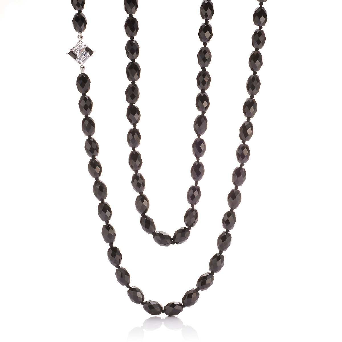 Gump's Spinel & Mosaic Element Rope Necklace