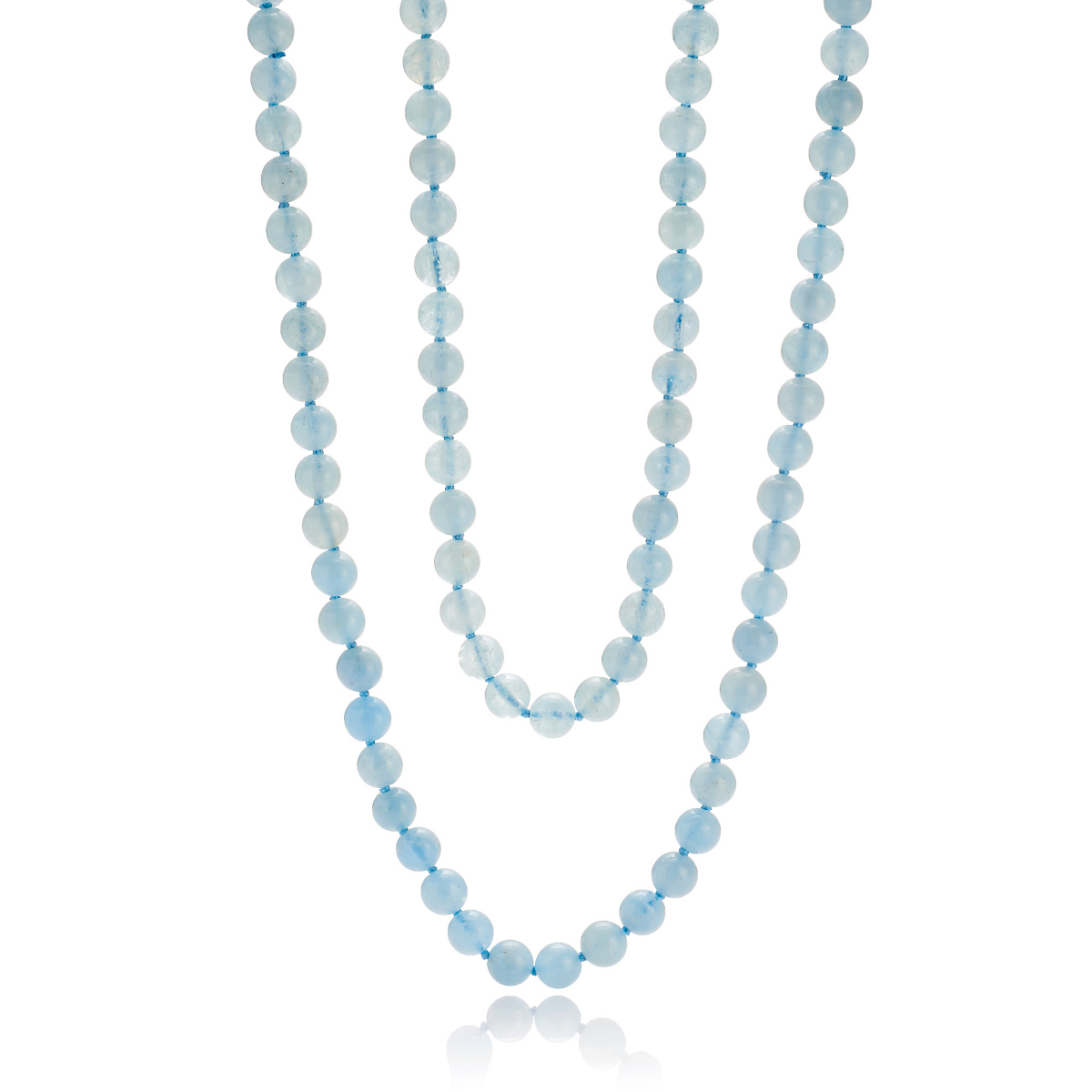 Gump's Long Aquamarine Necklace