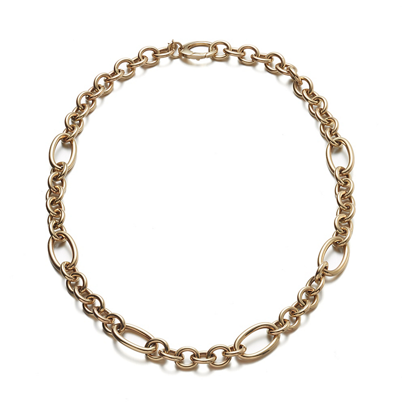 Multi Link Gold Chain Necklace
