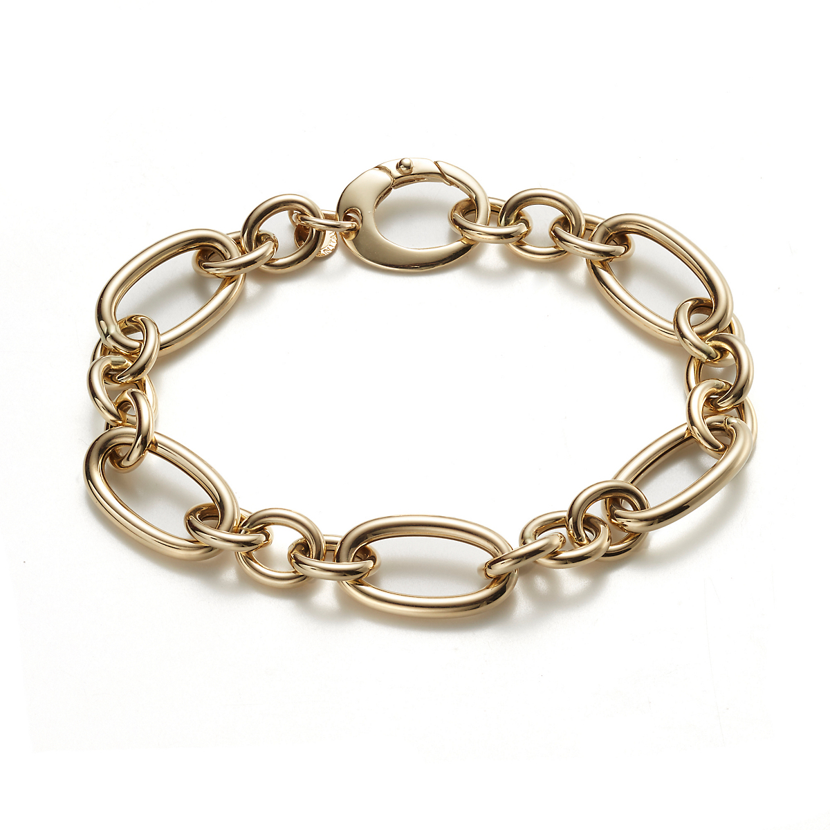 Multi Link Gold Chain Bracelet