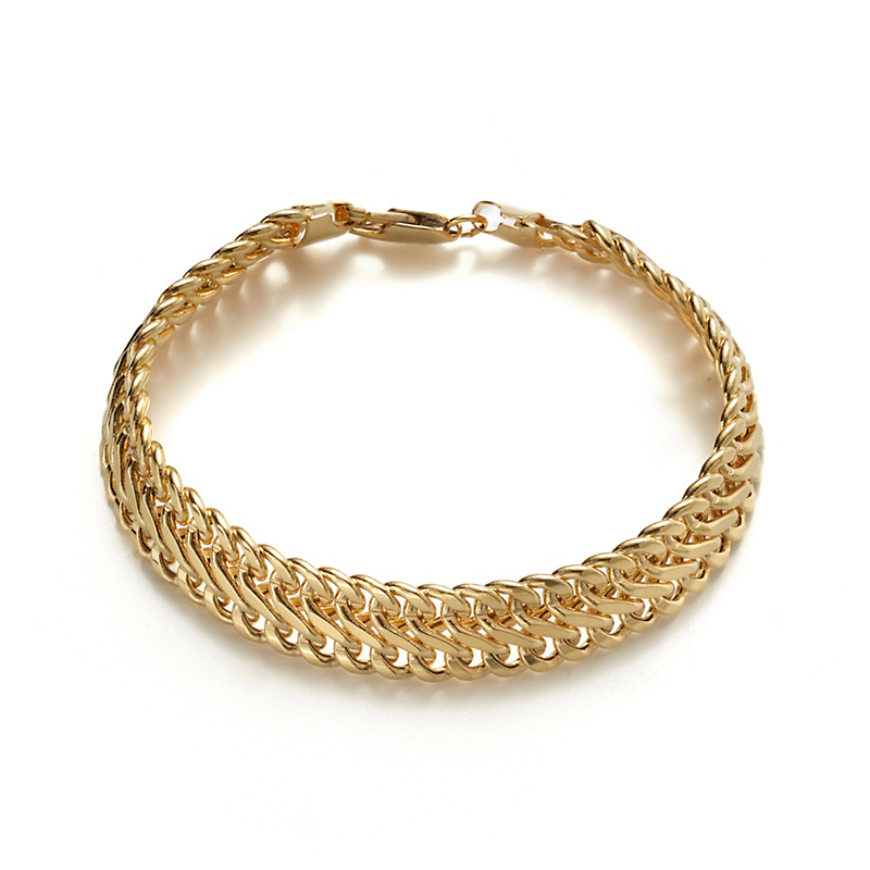 Gold Figure Eight Link Bracelet