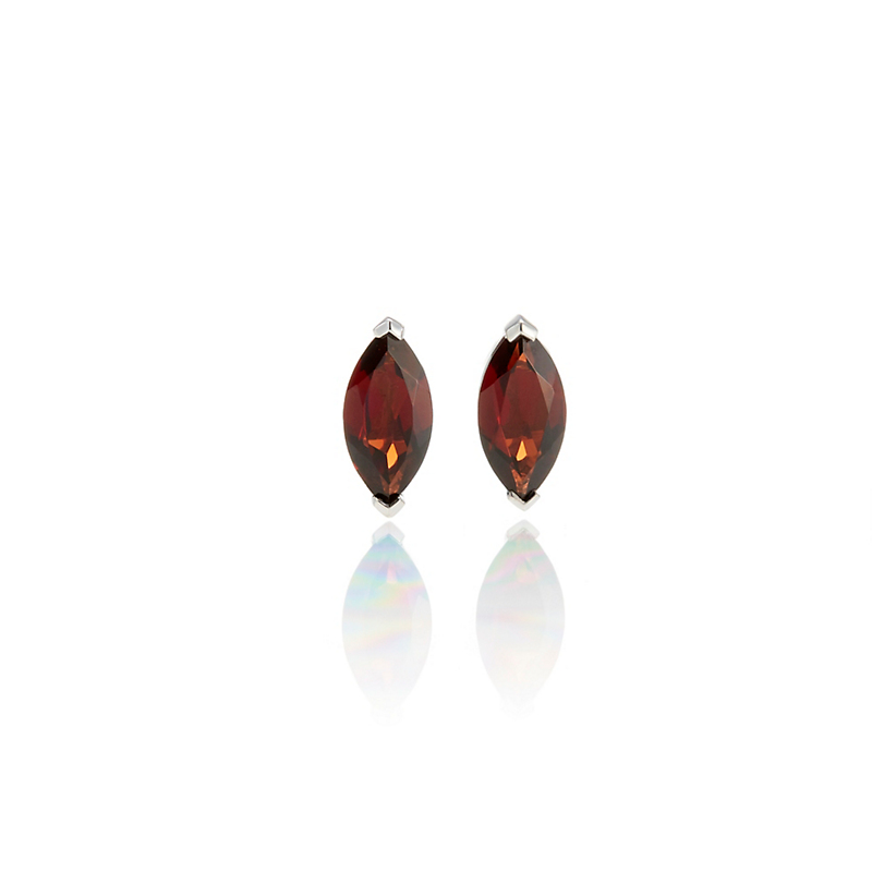 Gump's Petite Marquise Garnet Stud Earrings