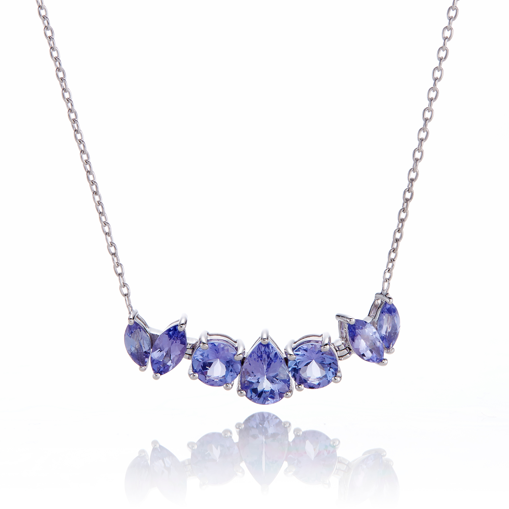 Gump's 7-Stone Tanzanite Pendant Necklace