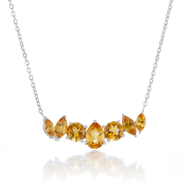 Gump's 7-Stone Citrine Pendant Necklace