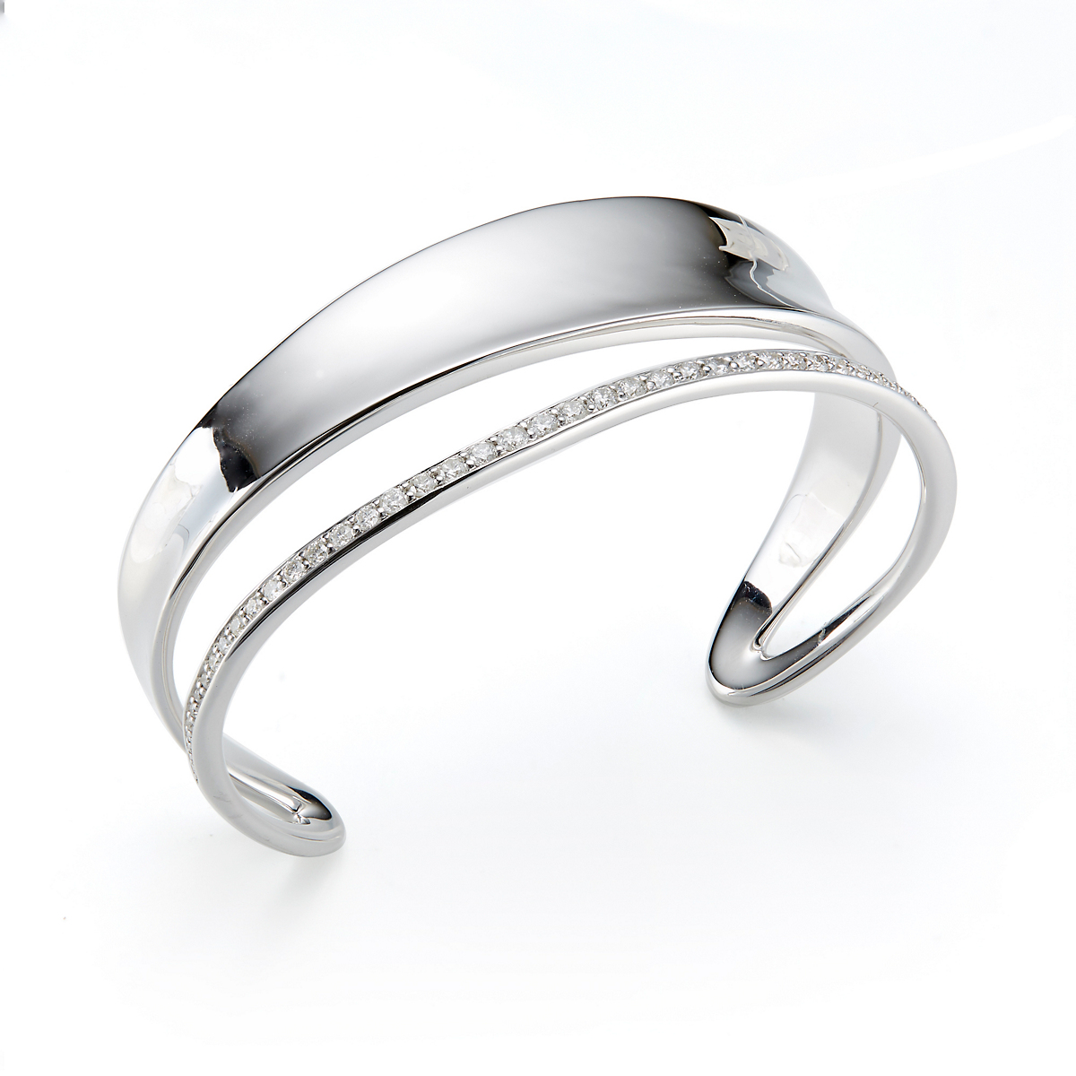 Georg Jensen Marcia Cuff Bracelet With Diamonds