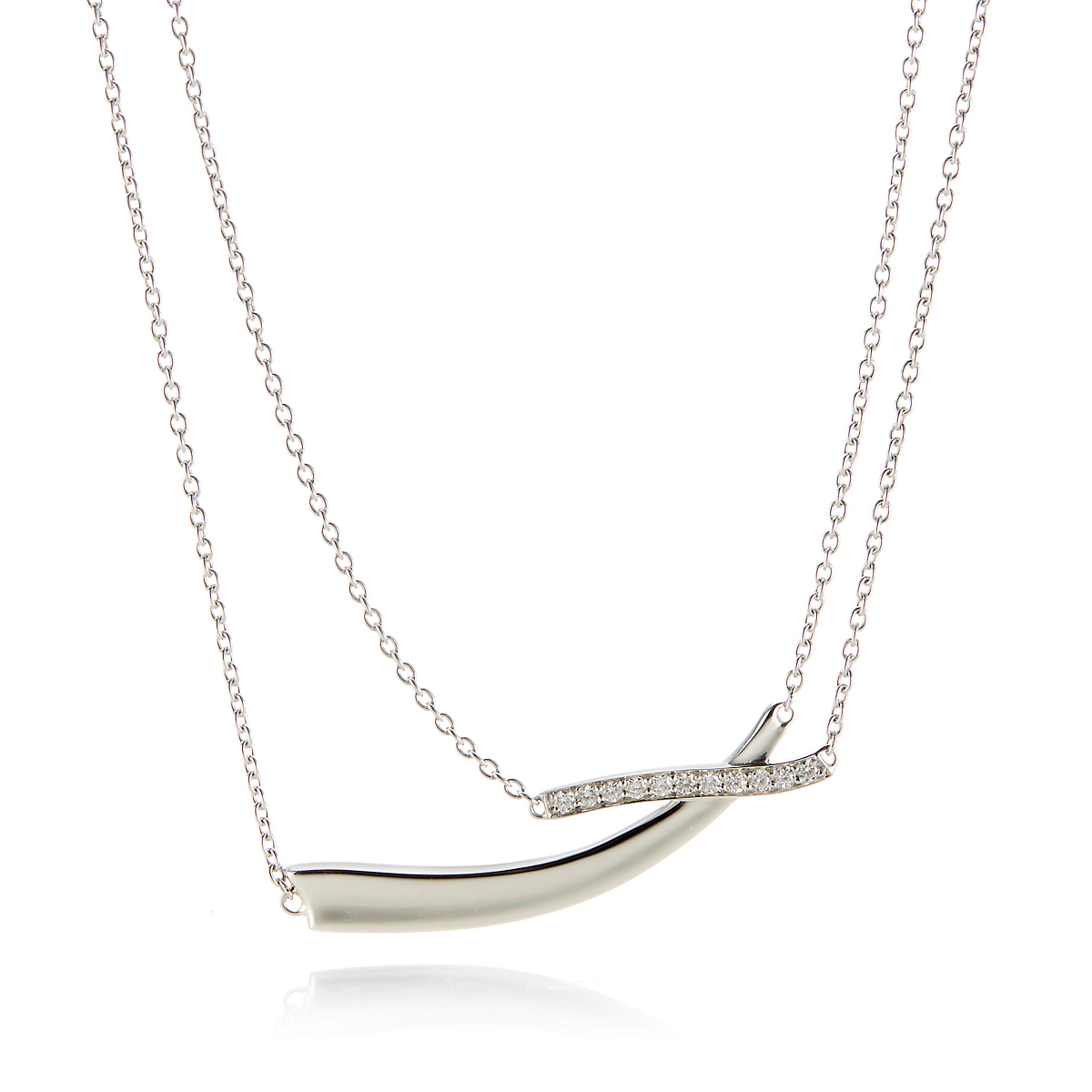 Georg Jensen Marcia Pendant Necklace With Diamonds