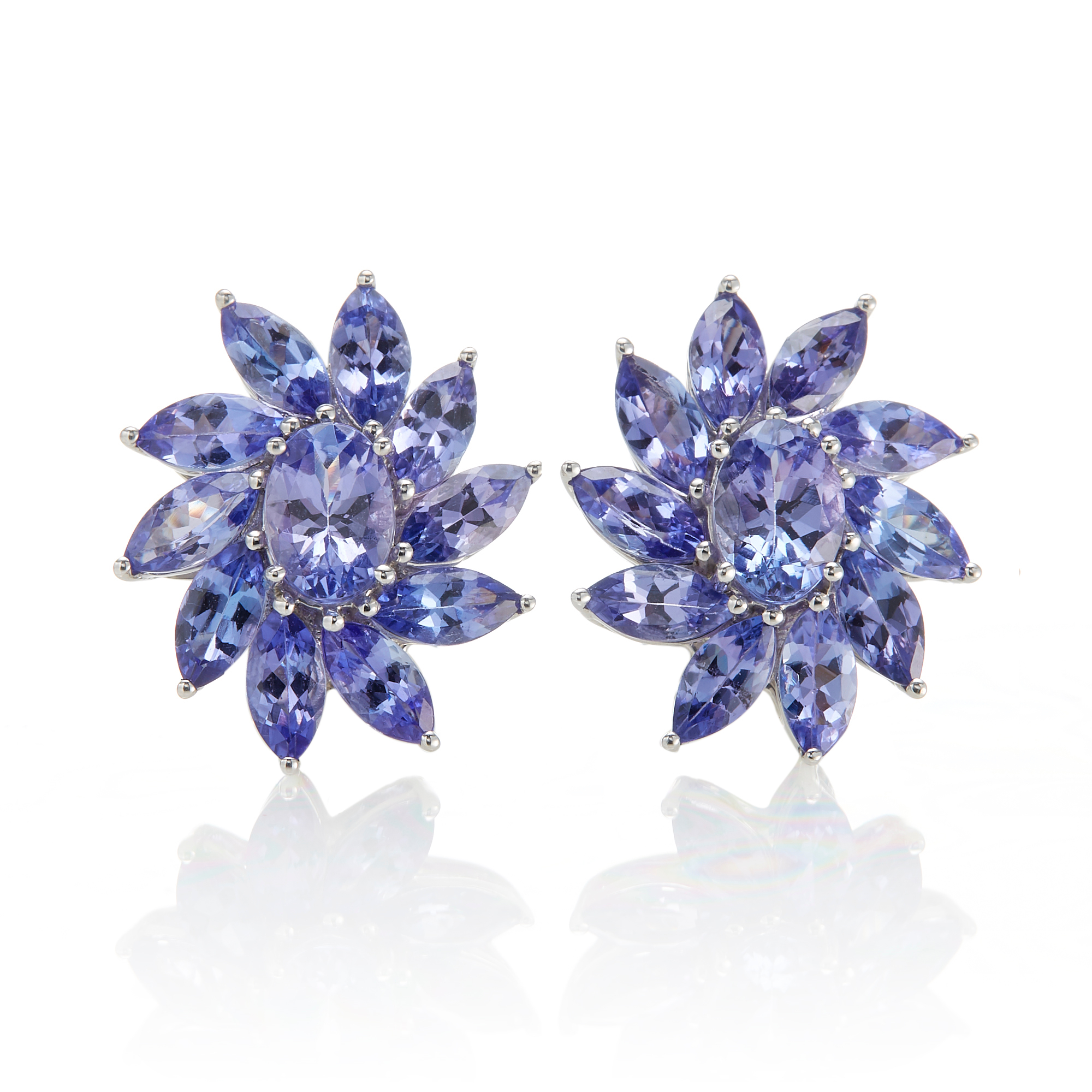 Gump's Sunburst Tanzanite Earrings