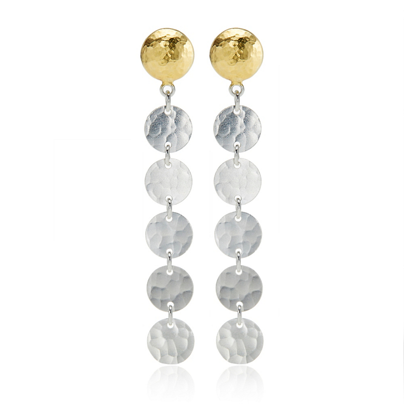Gurhan Sequin Lush Drop Earrings