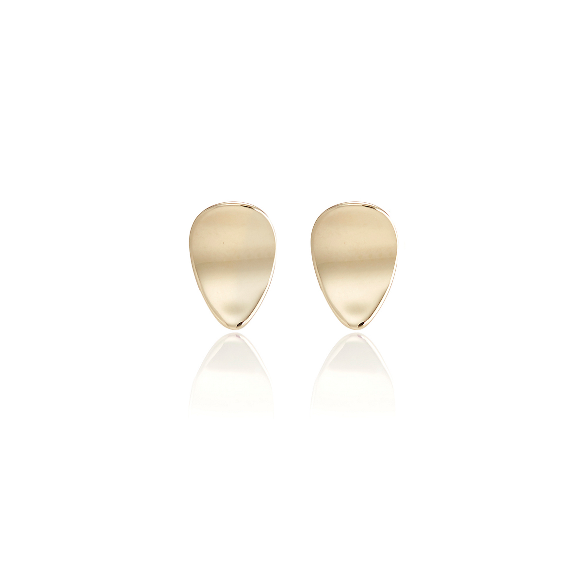 Gump's Petite Concave Petal Stud Earrings