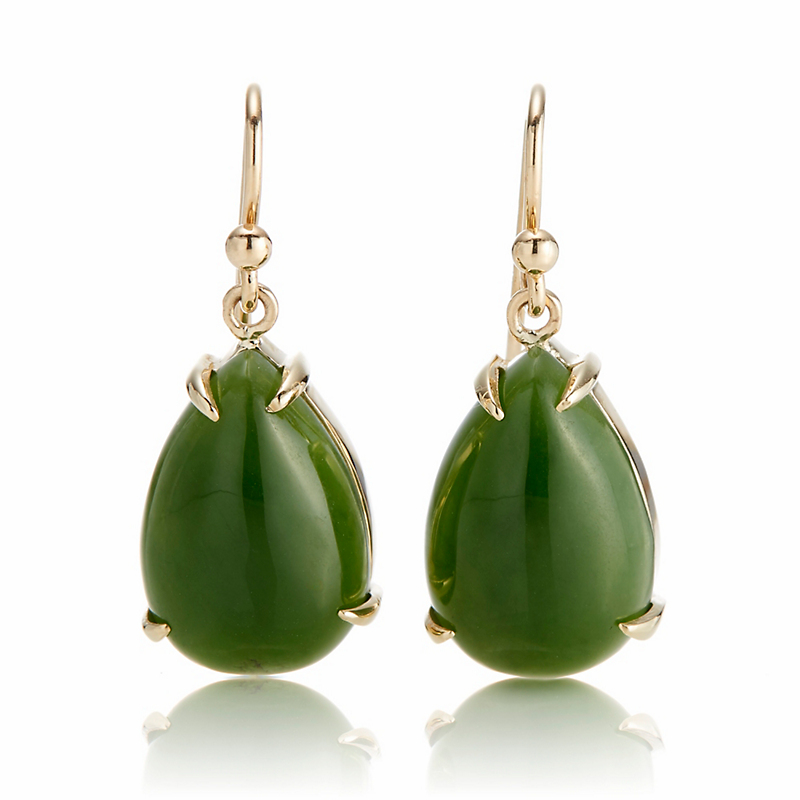 Gump's Jade Teardrop Earrings
