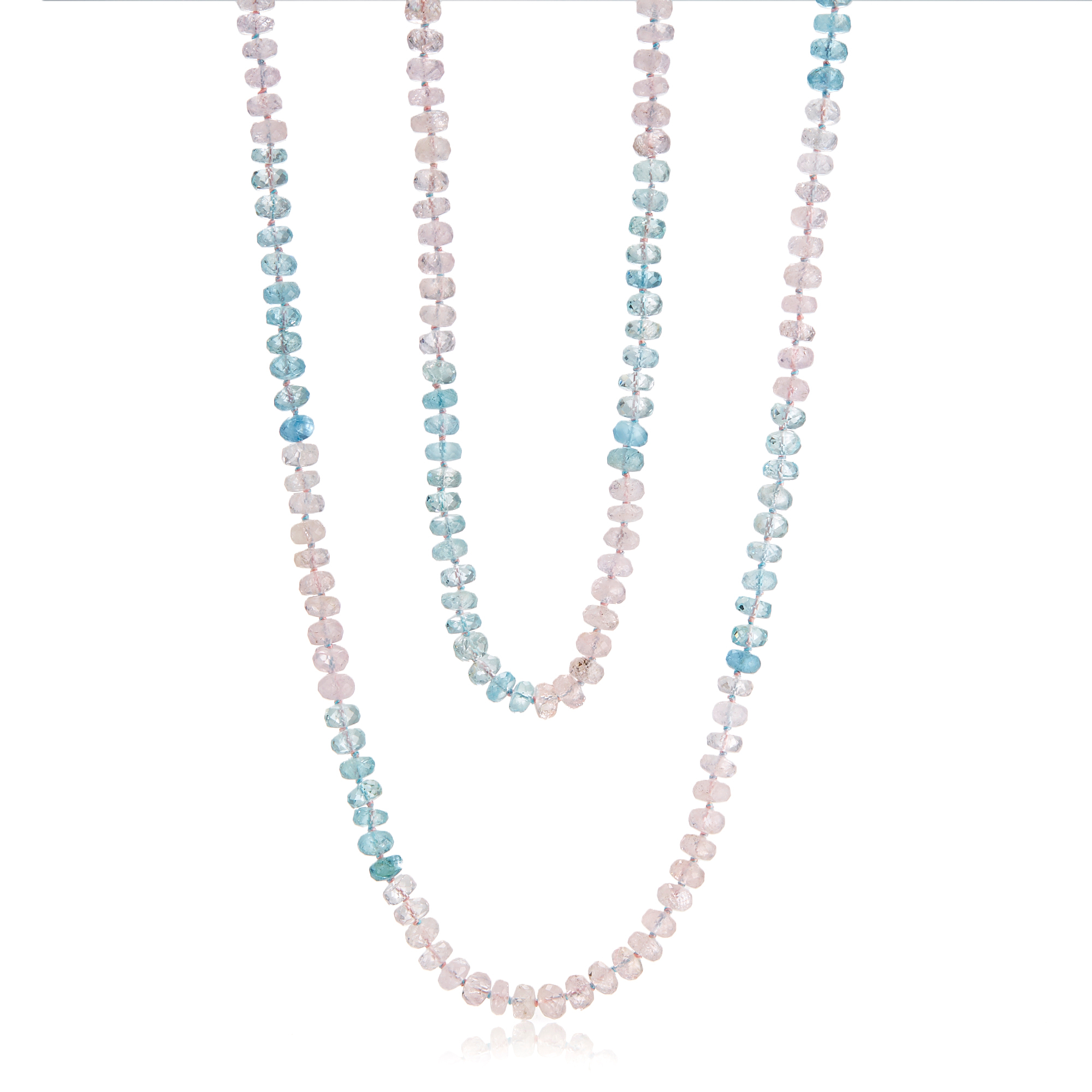 Gump's Faceted Aquamarine & Morganite Rope