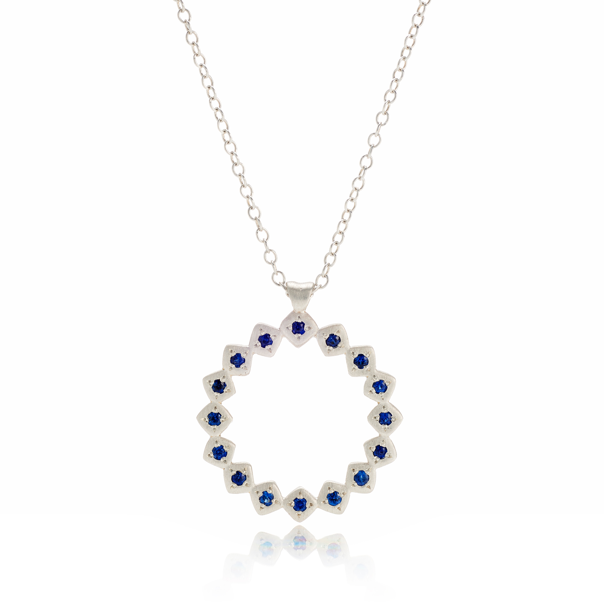 Adel Chefridi Constellation Open Circle Sapphire Necklace