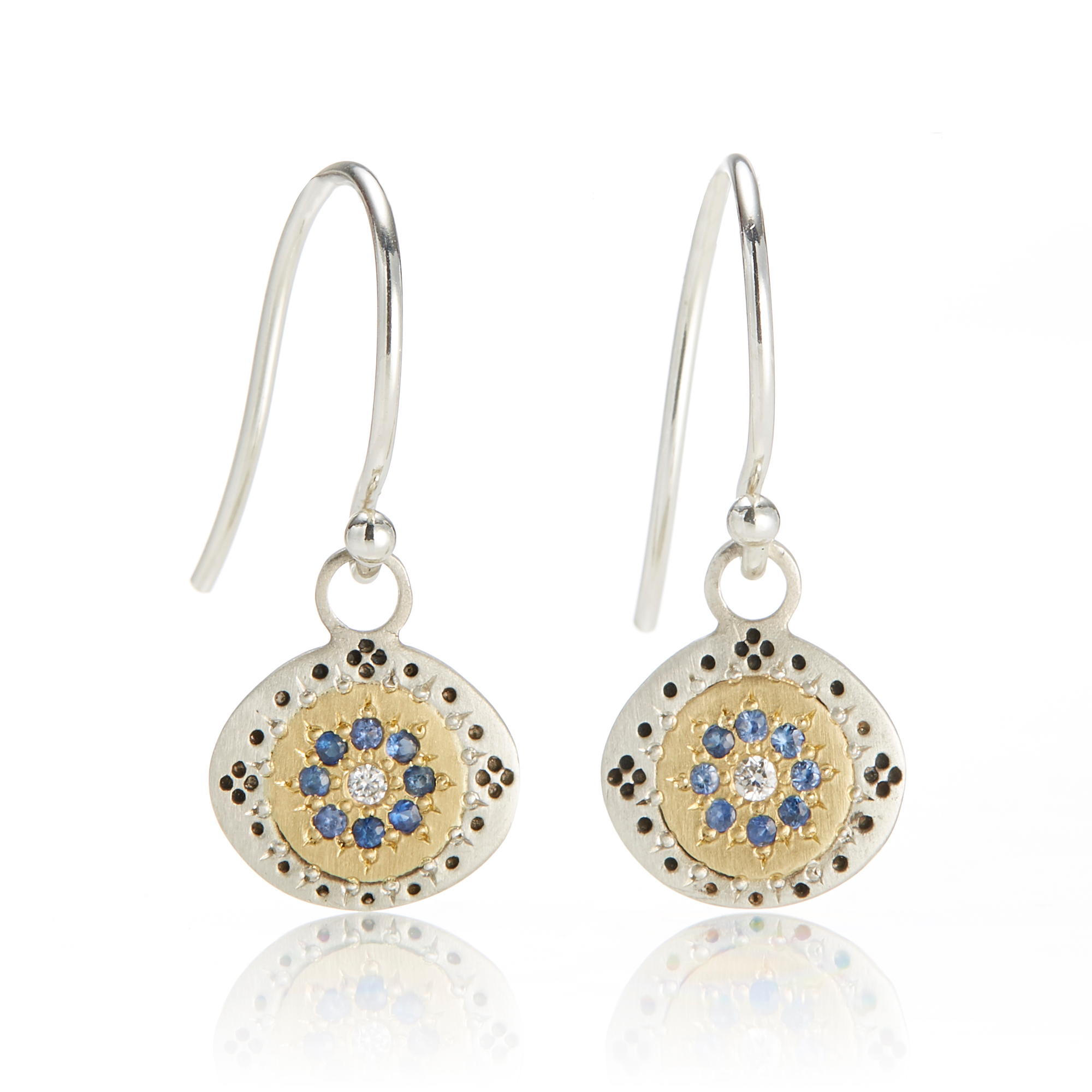 Adel Chefridi Seeds of Harmony Sapphire Drop Earrings