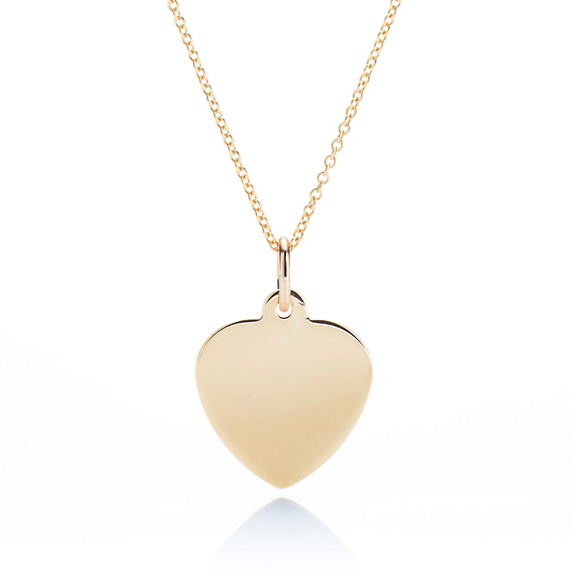 Gump's Gold Heart Tag Pendant Necklace