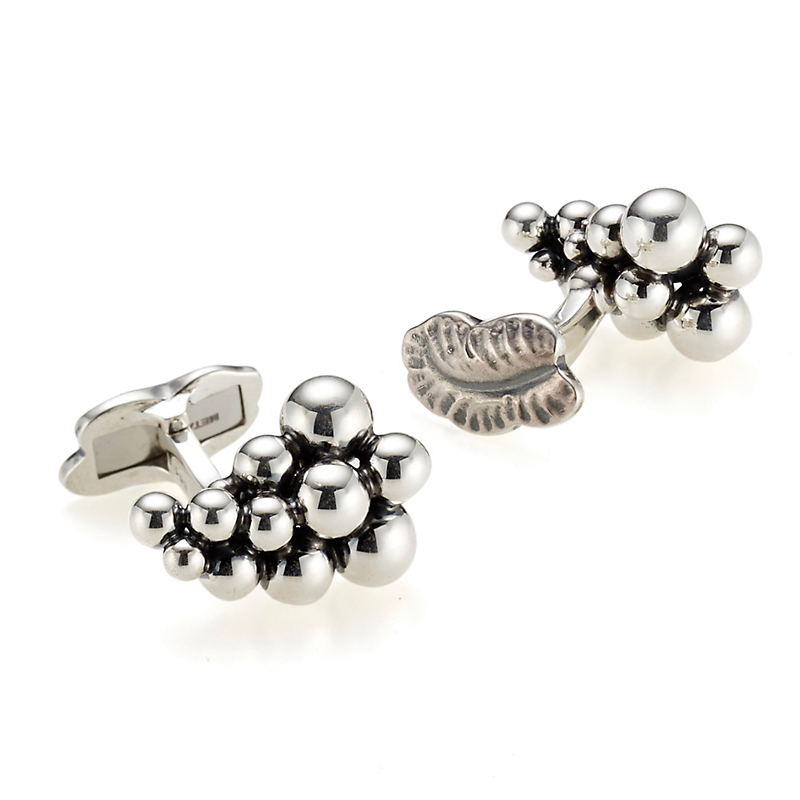Georg Jensen Moonlight Grapes Silver Cufflinks