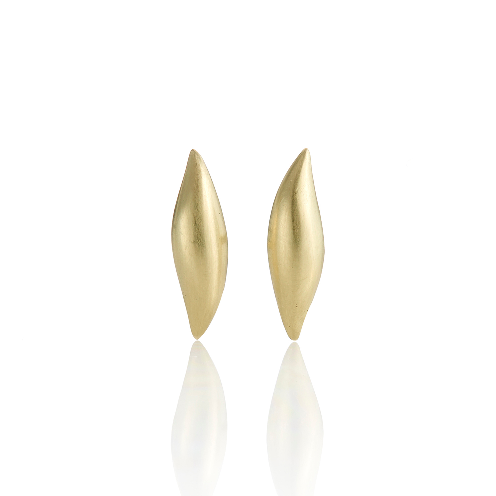 Gabriella Kiss Gold Slug Stud Earrings