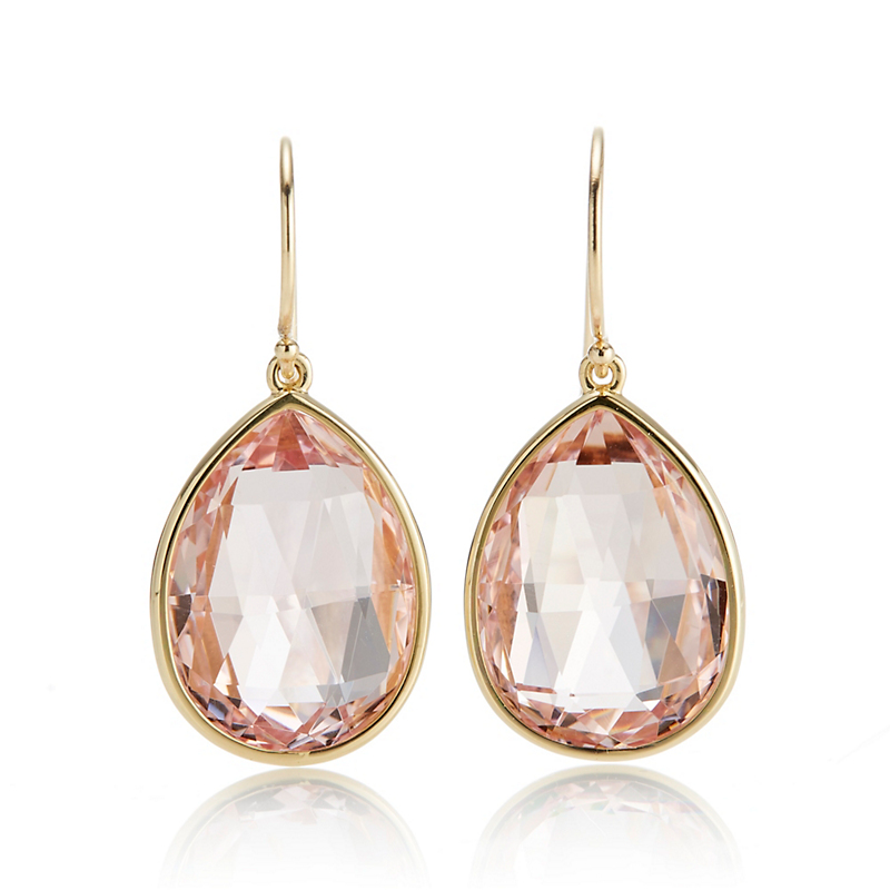 Gump's Faceted Morganite Pear Shape Earrings
