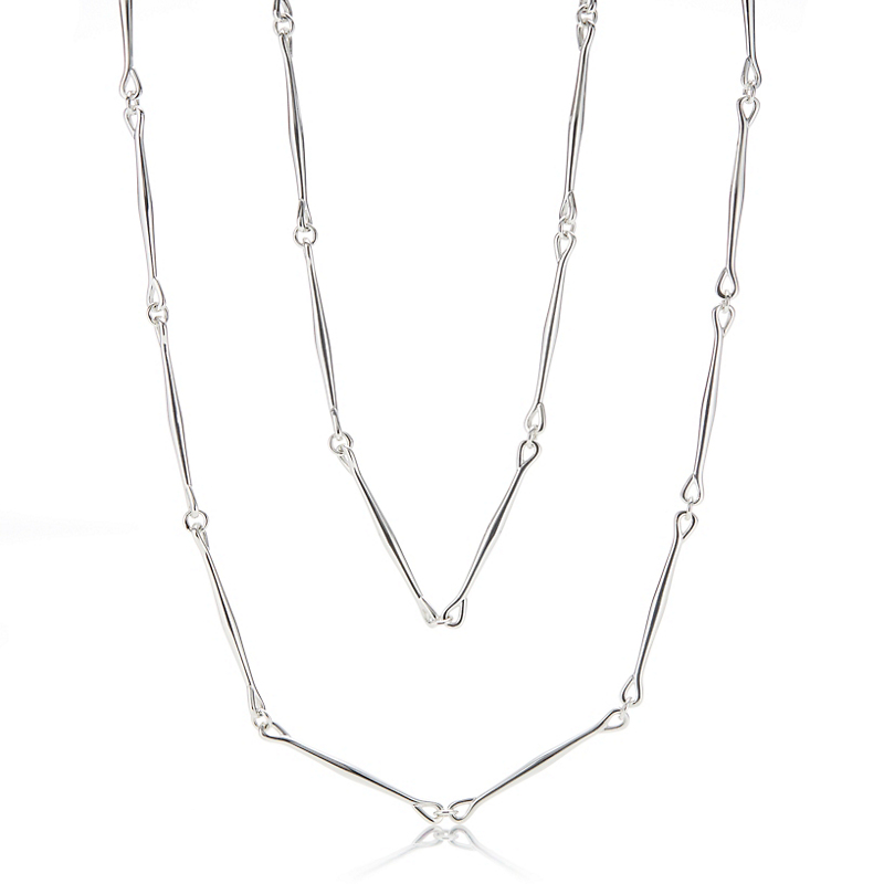 Georg Jensen Astrid Sautoir Silver Necklace