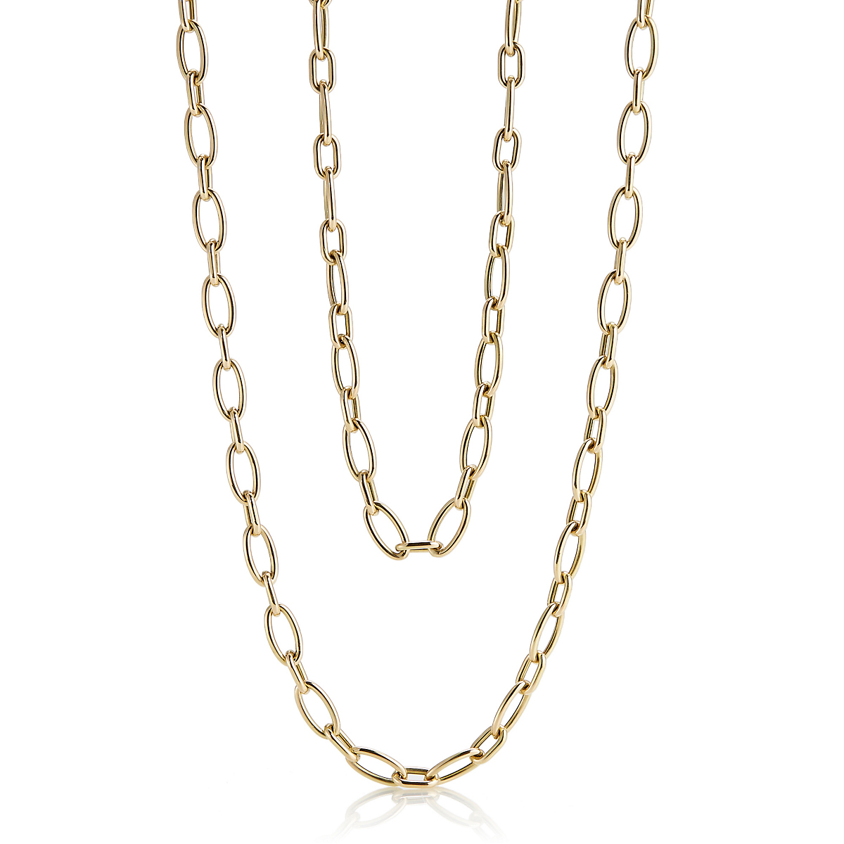 Multi-Link Elongated Oval Necklace