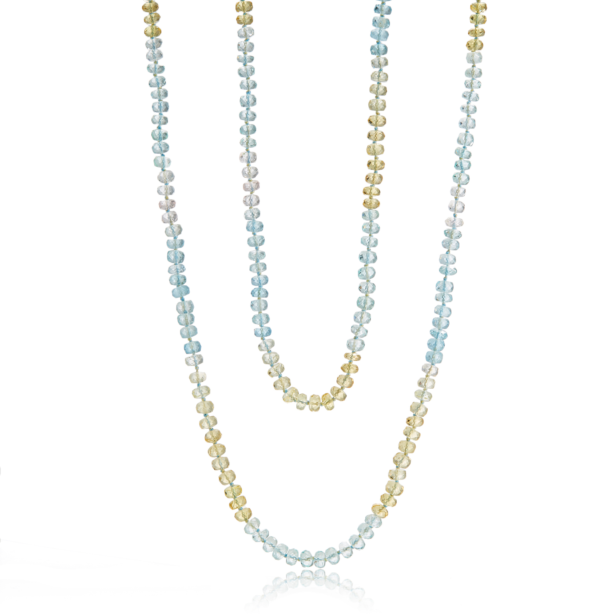 Gump's Faceted Aquamarine & Beryl Rope
