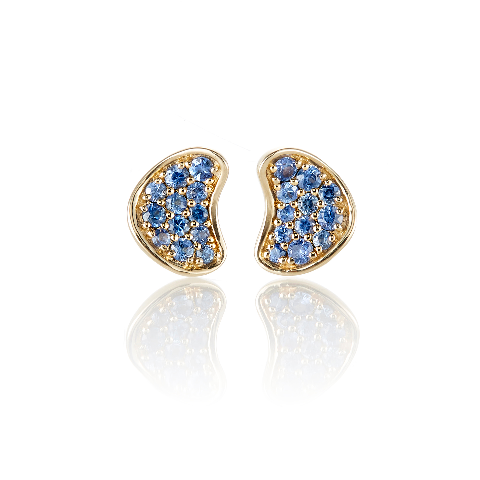 Gump's Blue Sapphire Organic Stud Earrings