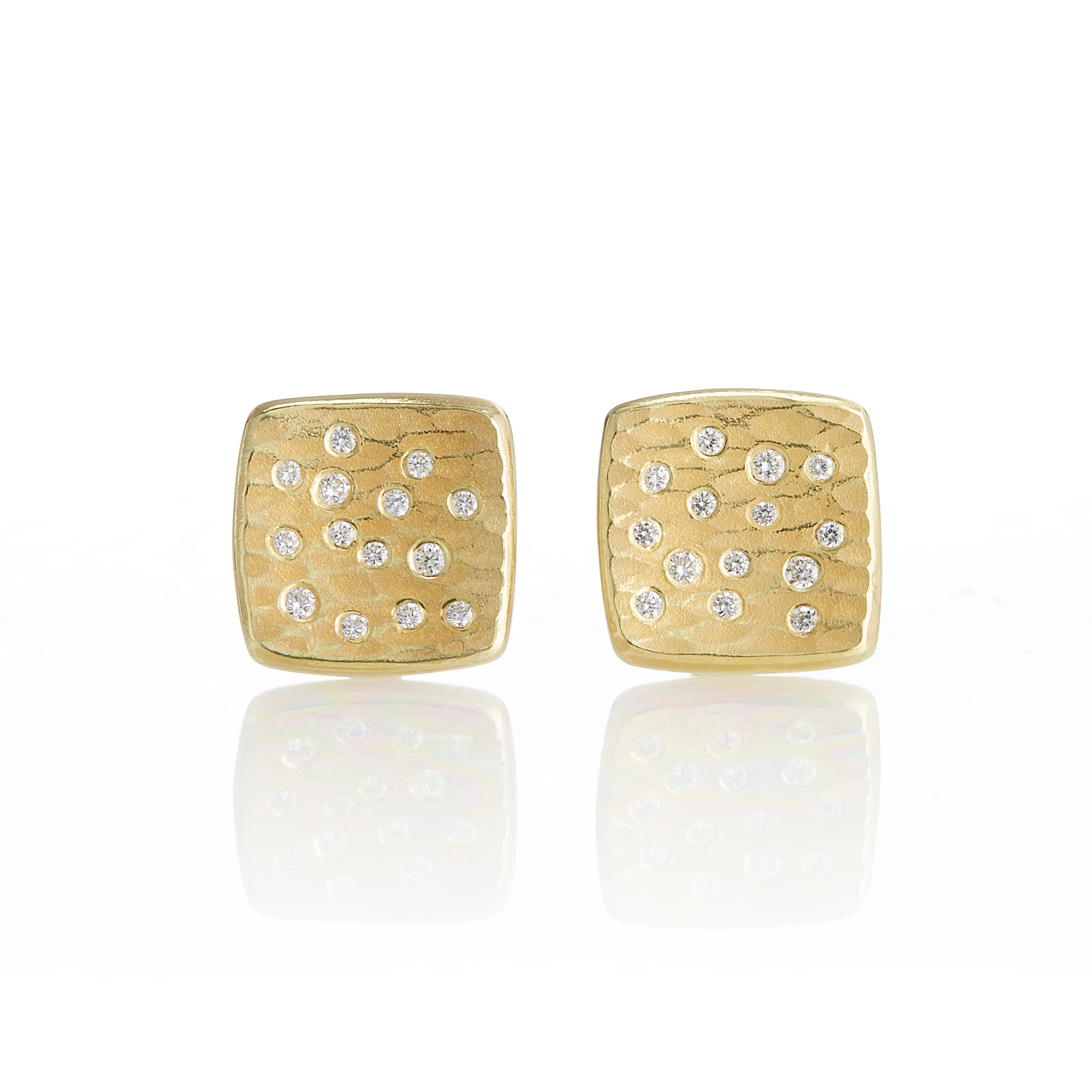 Barbara Heinrich Small Square Glacier Earrings