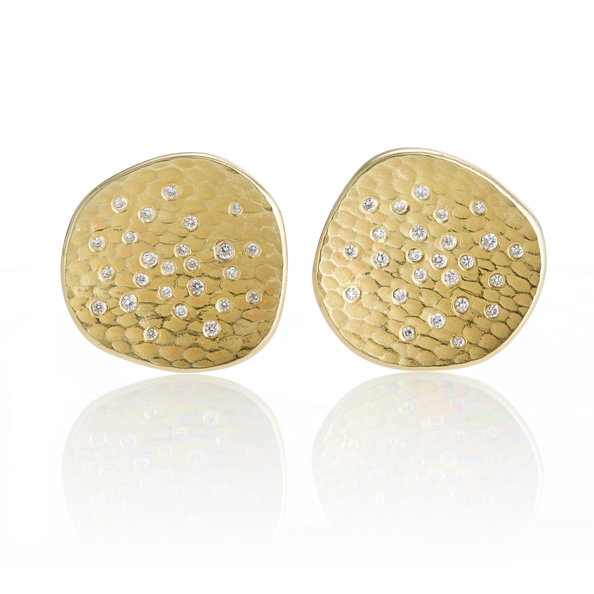 Barbara Heinrich Round Glacier Earrings
