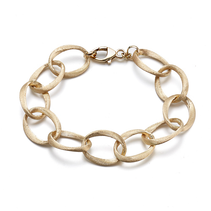 Brushed Tapered Link Bracelet