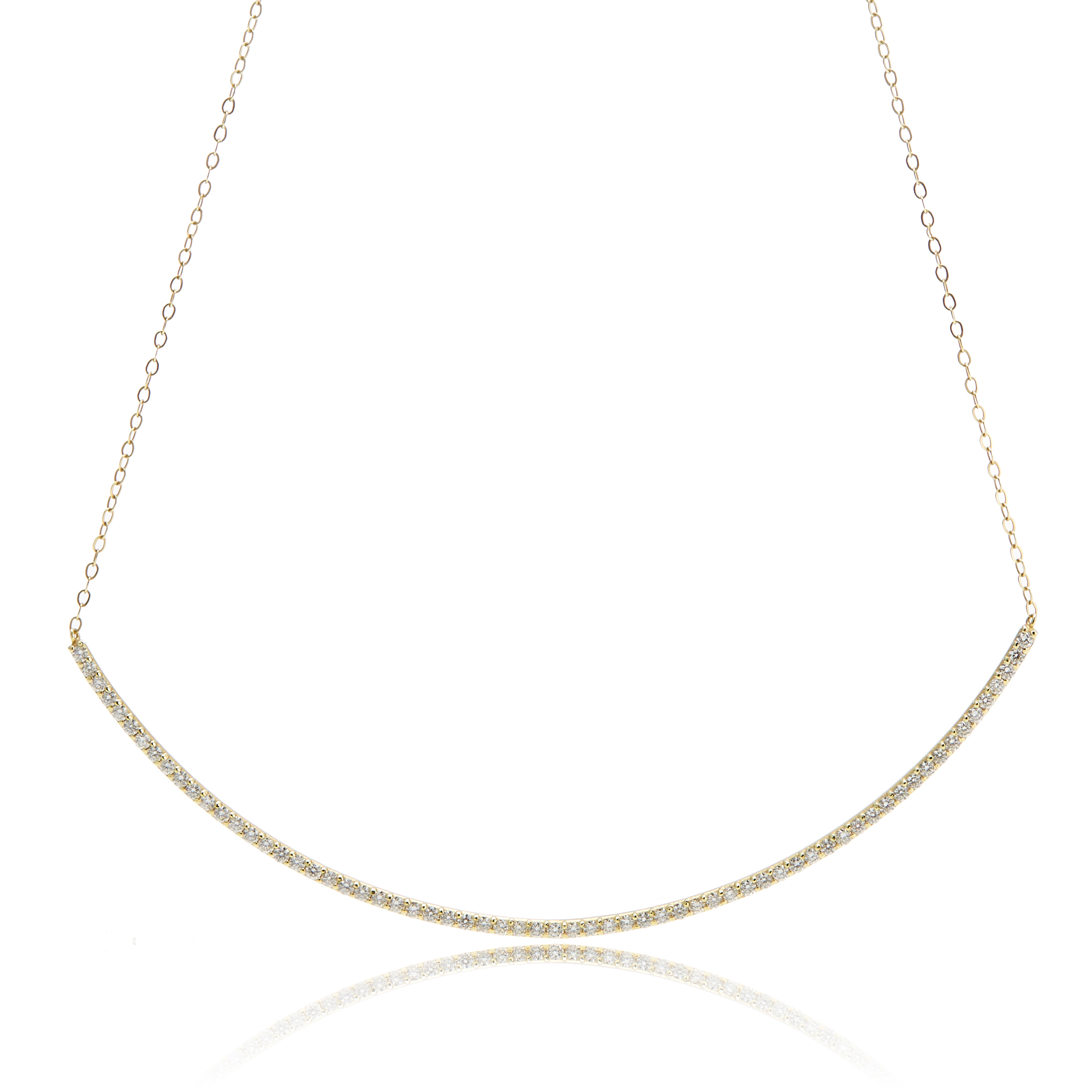 ILA Selma Diamond Crescent Necklace